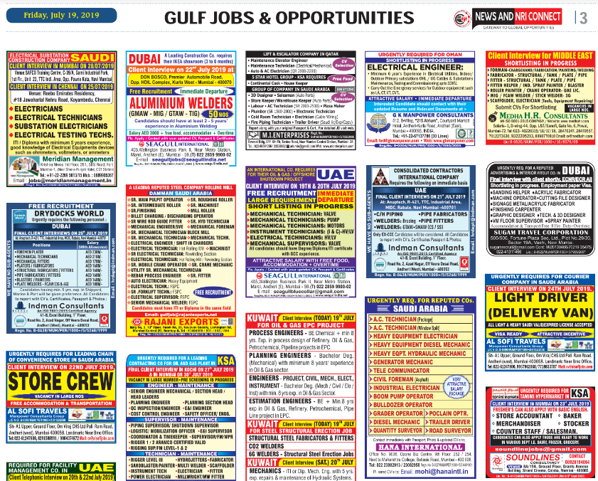NRI CONNECT E-PAPER-20-07-19 PDF - Alert Jobs Free