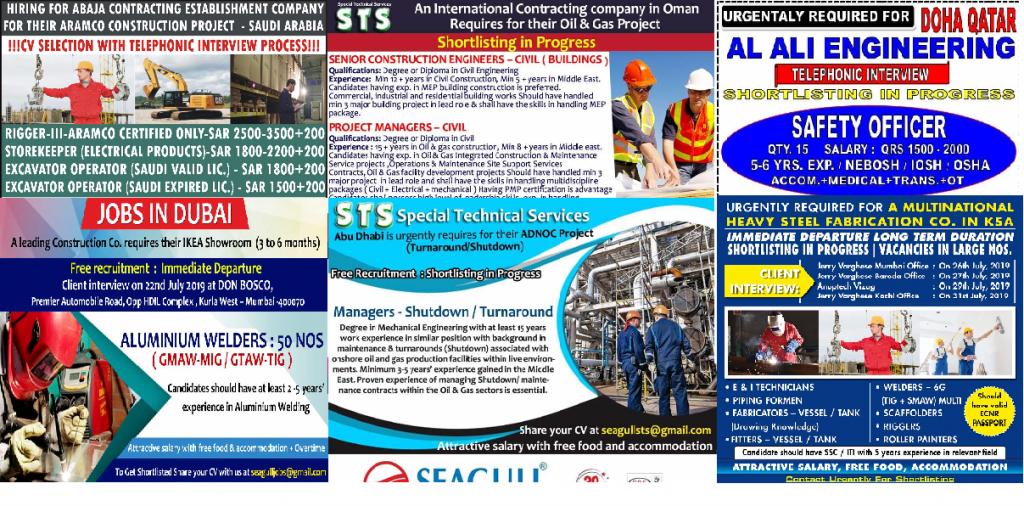 STS OMAN, SAUDI ARAMCO RECRUITMENT - Alert Jobs Free