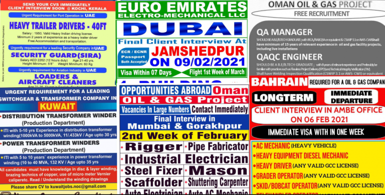 Assignments Abroad 06th February 2021