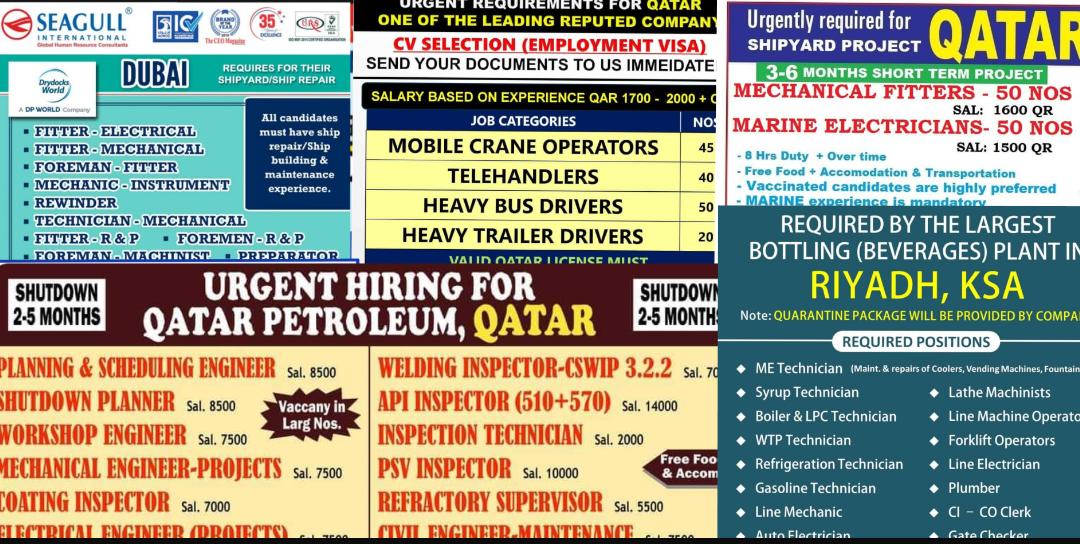 Global jobs 31st august 2021